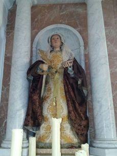 Santa Lucia de la Ermita del castillo de Cortegana, Huelva